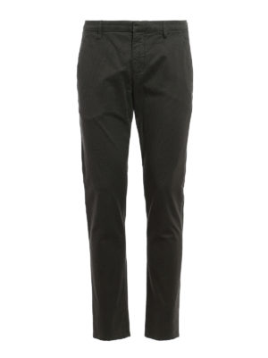 Dondup: casual trousers - Gaubert geometric pattern trousers