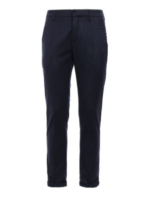 Dondup: casual trousers - Gaubert gingham wool trousers