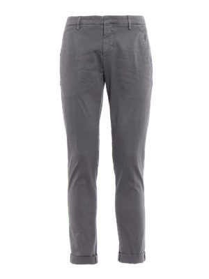 Dondup: casual trousers - Gaubert grey cotton trousers