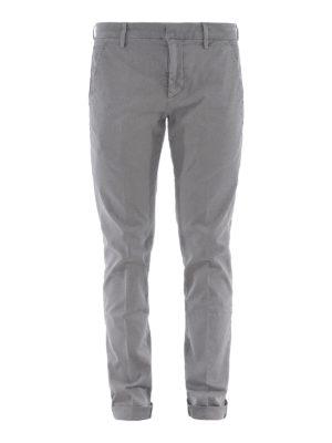 DONDUP: pantaloni casual - Pantaloni Gaubert grigi in cotone