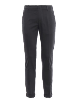 DONDUP: pantaloni casual - Pantaloni classici grigi Gaubert in cotone