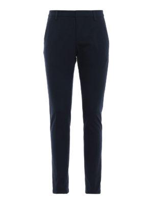 DONDUP: pantaloni casual - Pantaloni Gaubert in jersey punto stoffa