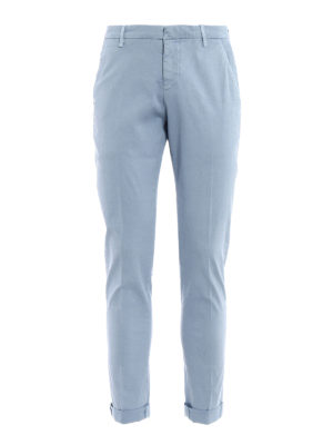 Dondup: casual trousers - Gaubert light blue cotton trousers
