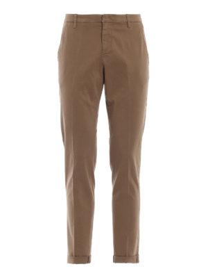 DONDUP: pantaloni casual - Pantaloni classici beige Gaubert in cotone