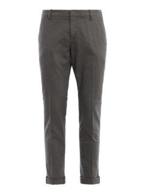 DONDUP: pantaloni casual - Pantaloni Gaubert in misto cotone mélange