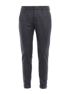Dondup: casual trousers - Gaubert melange wool chinos