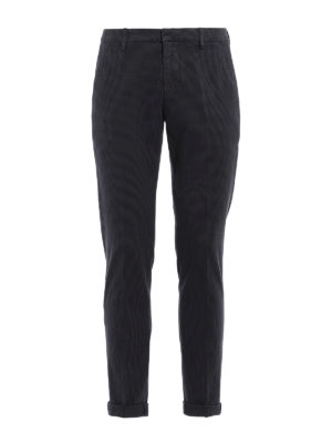 Dondup: casual trousers - Gaubert micro houndstooth trousers