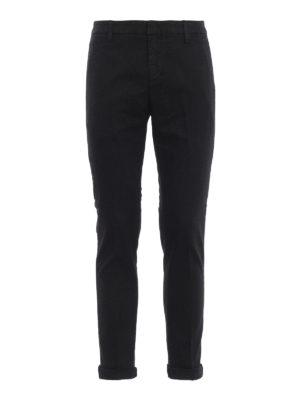 DONDUP: pantaloni casual - Pantaloni classici Gaubert con micro motivo