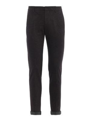 DONDUP: pantaloni casual - Pantaloni Gaubert in cotone con micro motivo