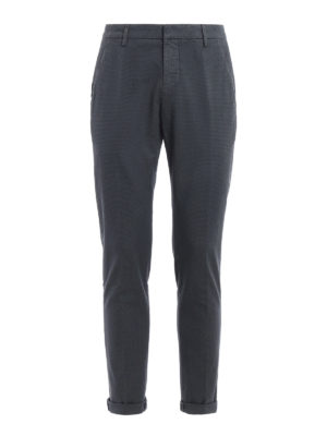 Dondup: casual trousers - Gaubert micro patterned trousers