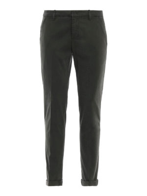DONDUP: pantaloni casual - Chinos Gaubert in misto cotone verde muschio