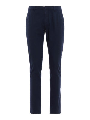 Dondup: casual trousers - Gaubert polka dot cotton trousers