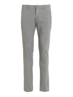 Dondup: casual trousers - Gaubert printed cotton trousers