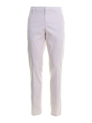DONDUP: casual trousers - Gaubert satin pants
