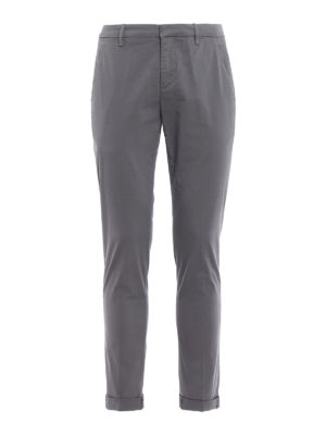 Dondup: casual trousers - Gaubert solid grey cotton trousers