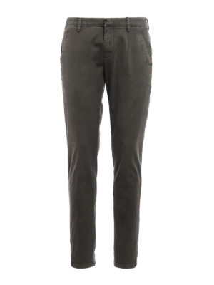 Dondup: casual trousers - Gaubert used cotton drill chinos