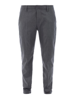 Dondup: casual trousers - Gaubert virgin wool chino trousers
