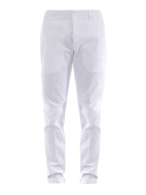 Dondup: casual trousers - Gaubert white trousers