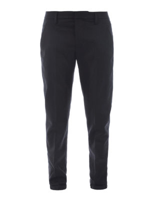 Dondup: casual trousers - Gaubert wool chino trousers