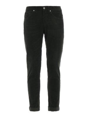 DONDUP: pantaloni casual - Pantaloni George in velluto verde