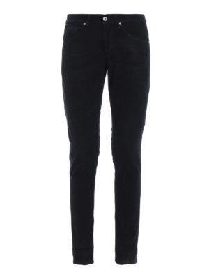 DONDUP: pantaloni casual - Pantaloni George skinny in velluto