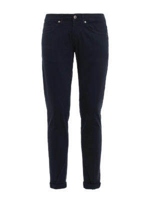 Dondup: casual trousers - George skinny fit cotton trousers