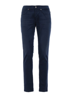 Dondup: casual trousers - George skinny twill trousers