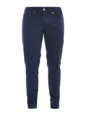 Dondup: casual trousers - George stretch gabardine trousers