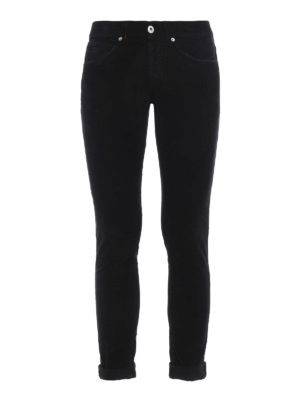 Dondup: casual trousers - George velvet trousers