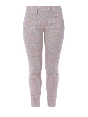 DONDUP: pantaloni casual - Pantaloni in jacquard pied-de-poule