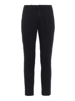 Dondup: casual trousers - Iconic cotton blend denim trousers