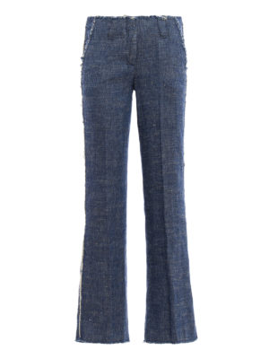 Dondup: casual trousers - Ingride linen and silk trousers