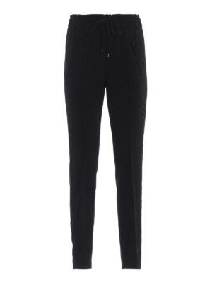 DONDUP: pantaloni casual - Pantaloni neri Lottie in cady