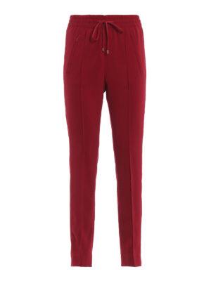 DONDUP: pantaloni casual - Pantaloni rossi Lottie in cady
