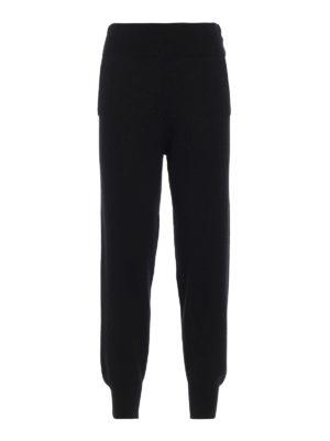 DONDUP: pantaloni casual - Pantaloni in maglia di lana con lurex