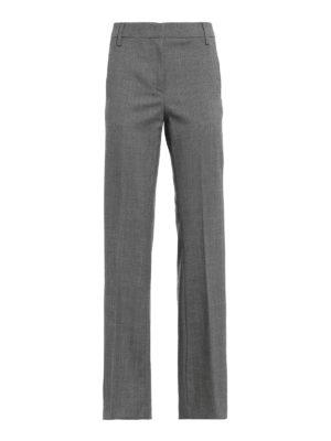 DONDUP: pantaloni casual - Chino Marion in misto lana motivo spigato