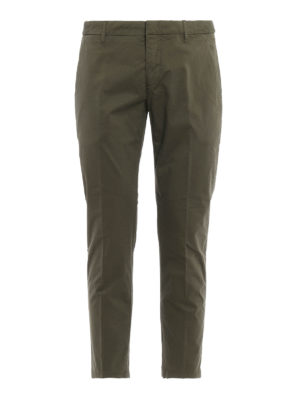 Dondup: casual trousers - Maury cotton trousers