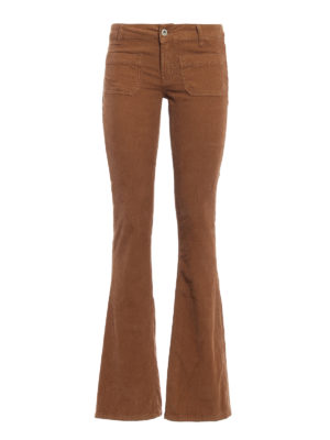 Dondup: casual trousers - Morrison corduroy bootcut trousers
