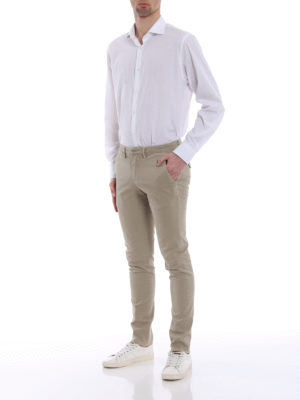 Dondup: casual trousers online - Bryan stretch cotton trousers