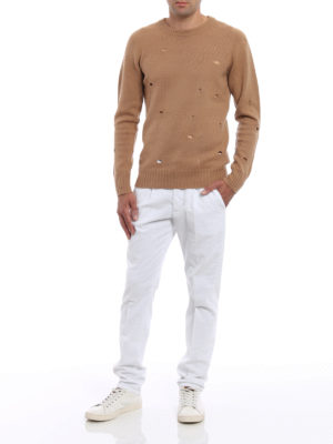 Dondup: casual trousers online - Bunkerin velvet trousers