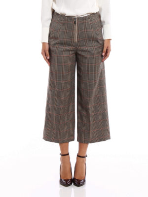 Dondup: casual trousers online - Deluxe crop wide trousers