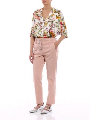 Dondup: casual trousers online - Fairey cotton jewel button trousers