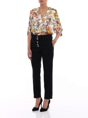 Dondup: casual trousers online - Fairey jewel button cotton trousers