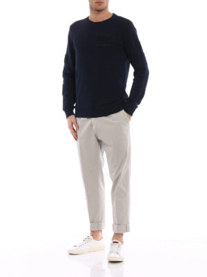 Dondup: casual trousers online - Frankie beige cotton chino trousers