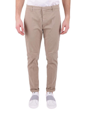 Dondup: casual trousers online - Gaubert beige cotton trousers