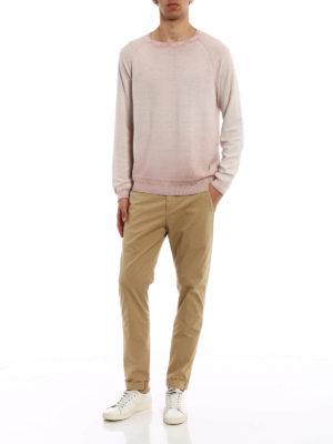 Dondup: casual trousers online - Gaubert beige stretch cotton chinos