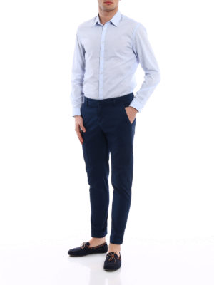 Dondup: casual trousers online - Gaubert blue trousers