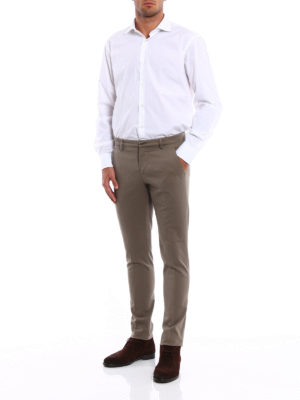 Dondup: casual trousers online - Gaubert cotton drill chinos