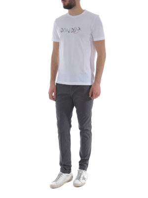 Dondup: casual trousers online - Gaubert dark grey cotton trousers