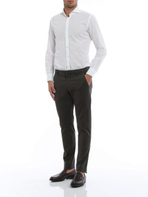 Dondup: casual trousers online - Gaubert geometric pattern trousers